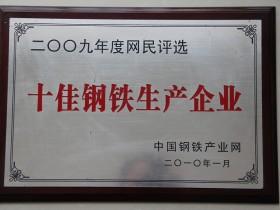 09年度 十佳钢铁生产企业