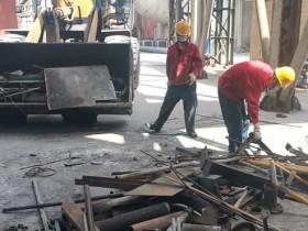 2#烧结风机房清理改造后废铁