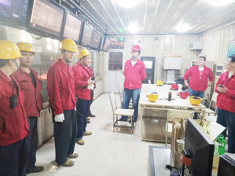轧钢厂进行事故断电处理演练